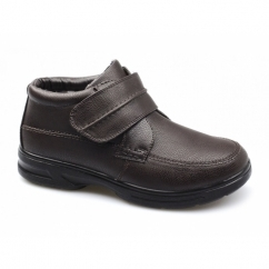 DREYFUSS Mens Faux Leather Dual Fit Touch Fastening Boots Brown