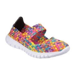 DRIFT Ladies Woven Mary Jane Shoes Multicoloured