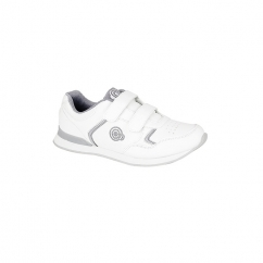 DRIVE Mens Velcro Bowling Shoes/Trainers White/Grey