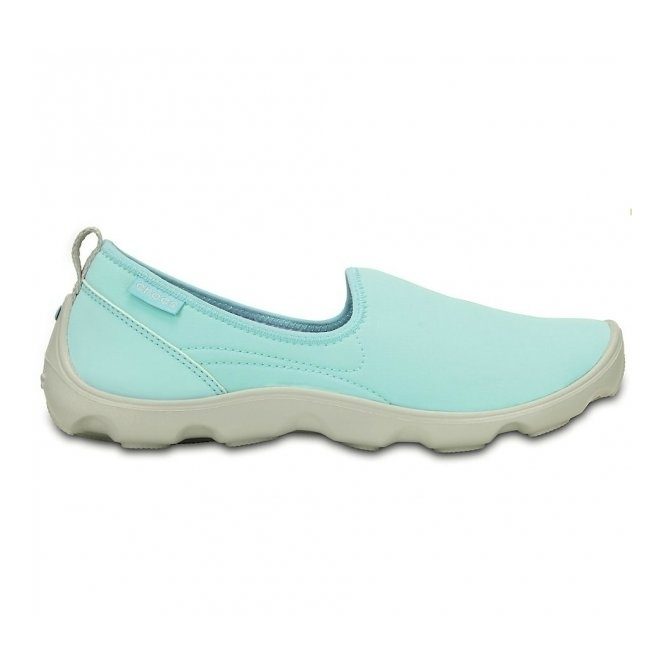 Crocs DUET BUSY DAY SKIMMER Ladies Walking Trainers Blue/White