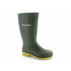 DULL Girls Boys Junior Wellington Boots Green
