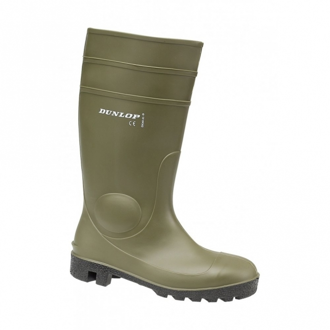 Dunlop PROTOM 142VP Unisex SB Safety Wellington Boots Green