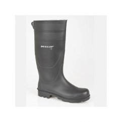 UNIVERSAL Mens Easy Clean Wellington Boots Black