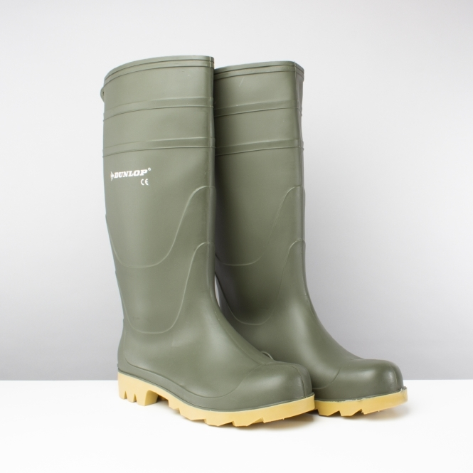 7437557d50e UNIVERSAL Mens Non-Safety Wellington Boots Green