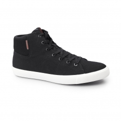 DUNMORE Mens Canvas Hi-Tops Anthracite