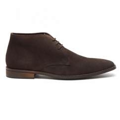DUNN Mens Suede Lace Up Chukka Boots Brown/Coffee