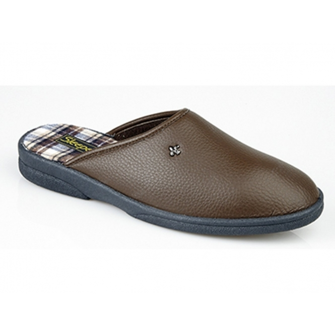 Sleepers DWIGHT Mens Mule Slippers Brown