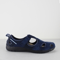 Earth Spirit CLEVELAND Ladies Touch Fasten Cut Out Casual Shoes Navy