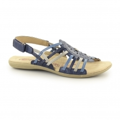 CORONA Ladies Leather Slingback Gladiator Sandals Blue
