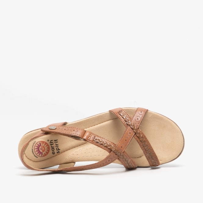 Earth Spirit EASTON Ladies Womens Smooth Leather Casual Dress Sandals Alpaca