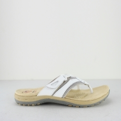 Earth Spirit JULIET Ladies Toe Post Sandals White