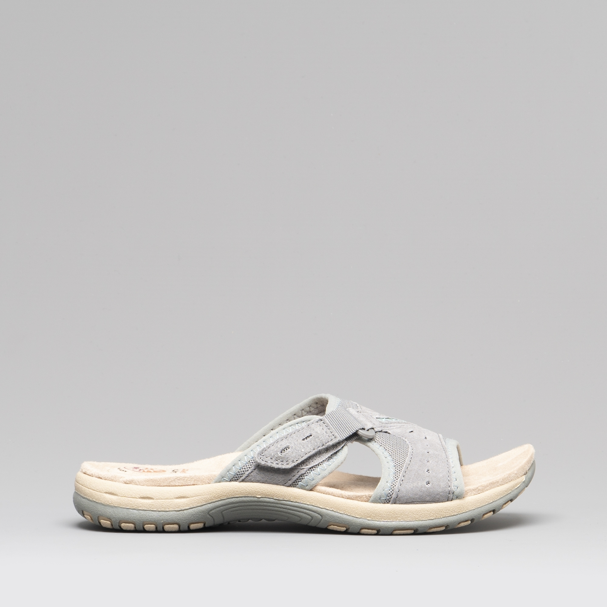 Earth Spirit LAKEWOOD Ladies Womens Casual Open Toe Slide Sandals Frost Grey