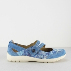 Earth Spirit MARYLAND Ladies Touch Fasten Casual Shoes Blue