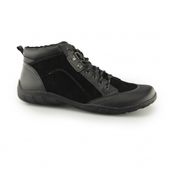 Earth Spirit RIVERSIDE Ladies Suede Walking Shoes Black | Shuperb