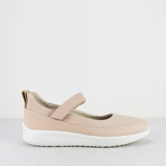 ECCO AQUET Ladies Leather Mary Jane Shoes Rose Dust