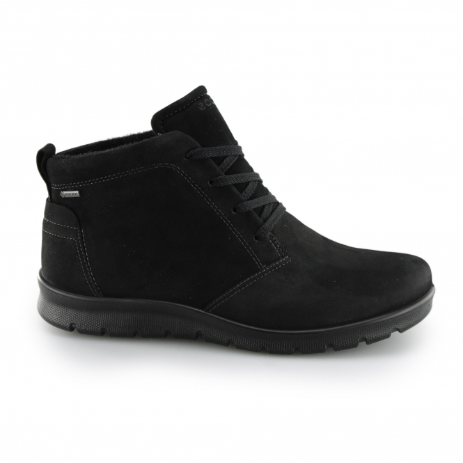 1f249c4fa1c ECCO BABETT Ladies Nubuck Leather Ankle Boots Black