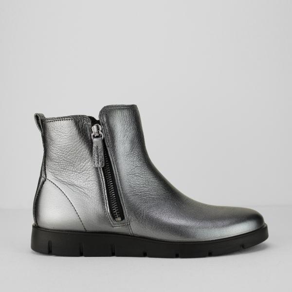 ECCO BELLA BOOT Ladies Leather Zip Up Boots Dark Shadow | Shuperb