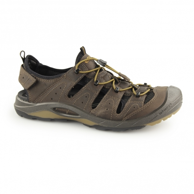 0ce5562a780 ECCO BIOM DELTA Mens Leather Trail Sandal Shoes Coffee | Shuperb