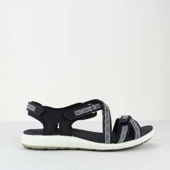 ECCO CRUISE II Ladies Touch Fasten Sandals Black