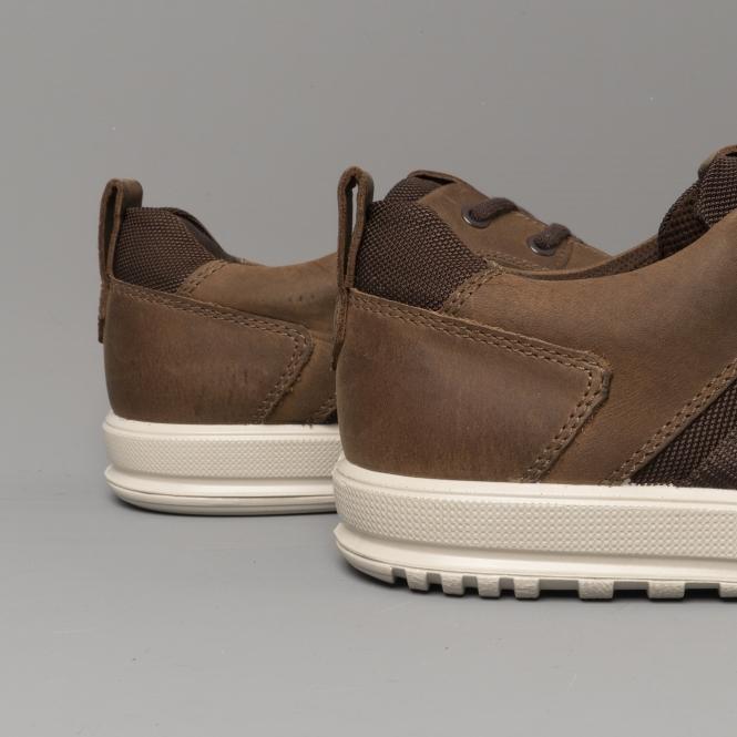 ECCO ENNIO Mens Leather Trainers Cocoa