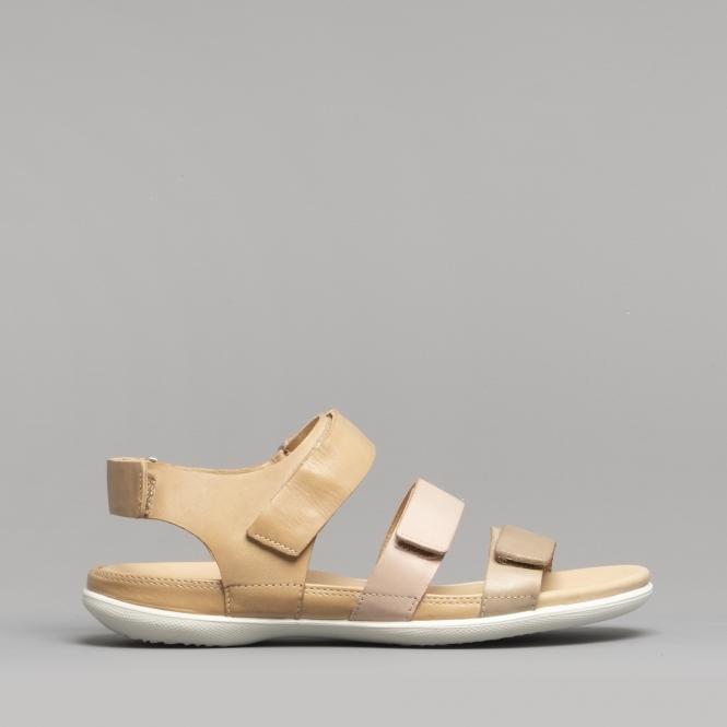 28a2a5f085 ECCO FLASH Ladies Leather Sandals Dune/Rose Dust/Powder | Shuperb