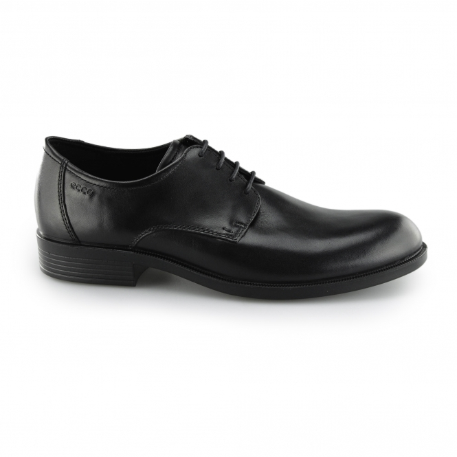 ECCO HAROLD Mens Leather Derby Lace Up Shoes Black