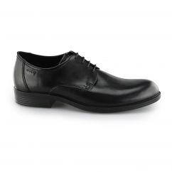 ECCO HAROLD Mens Leather Smart Derby Lace Up Shoes Black