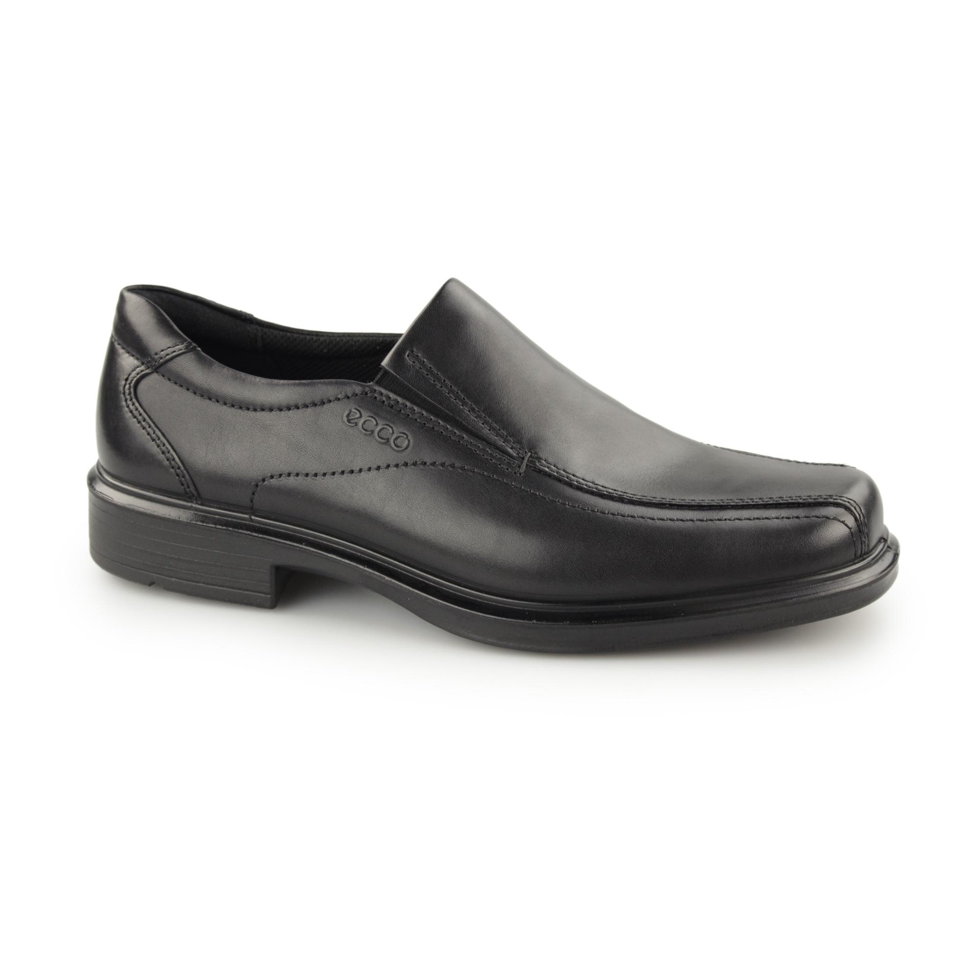 Neupreis starke verpackung Qualität und Quantität zugesichert ECCO HELSINKI Mens Leather Slip On Loafers Black