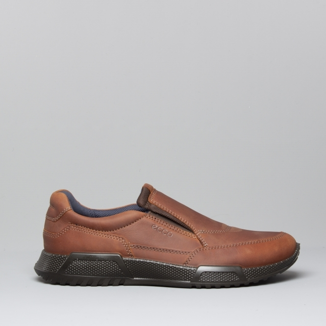 ac735ca07e LUCA Mens Oiled Nubuck Leather Slip On Shoes Cognac