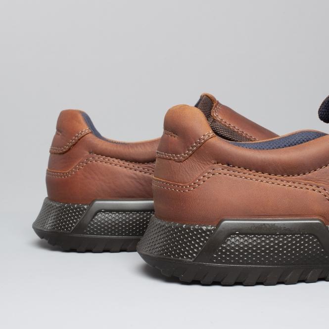 8b3e0b9abf9f ECCO LUCA Mens Oiled Nubuck Leather Slip On Shoes Cognac Brown