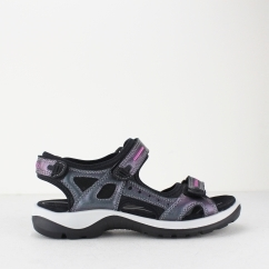 ECCO OFFROAD Ladies Leather Touch Fasten Sandals Iridescent