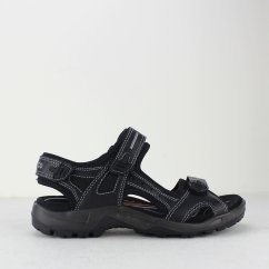 ECCO OFFROAD Mens Leather Touch Fasten Sandals Black