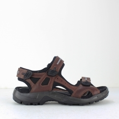 ECCO OFFROAD Mens Leather Touch Fasten Sandals Brandy