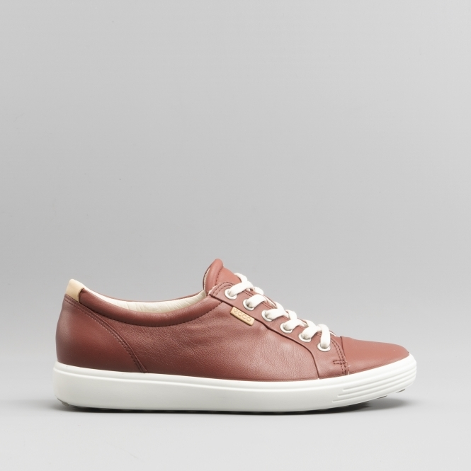 dcccb33757 SOFT 7 Ladies Leather Casual Trainers Fired Brick