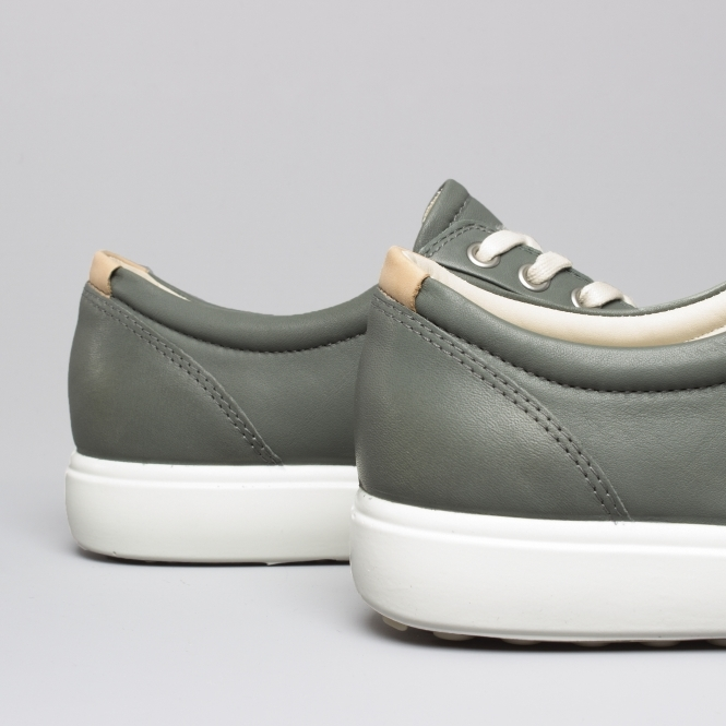 e9ccee3812cae ECCO SOFT 7 Ladies Leather Casual Trainers Moon