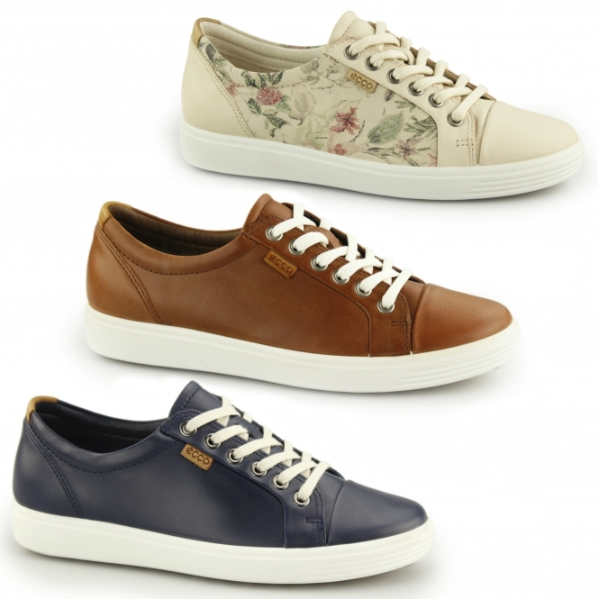 ECCO SOFT 7 Ladies Leather Lace Up