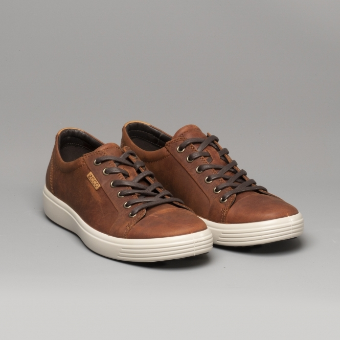 ECCO SOFT 7 Mens Leather Trainers