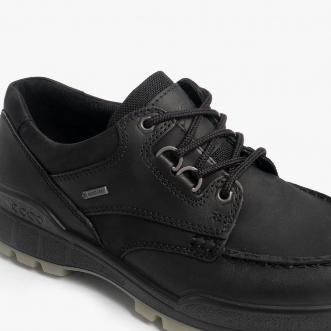 8a2ac982 ECCO TRACK 25 Mens Leather Waterproof Lace Up Walking Shoes Black