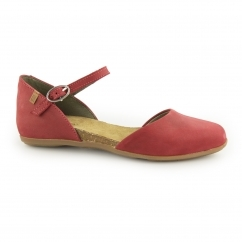 ND54 Ladies Leather Sandals Red