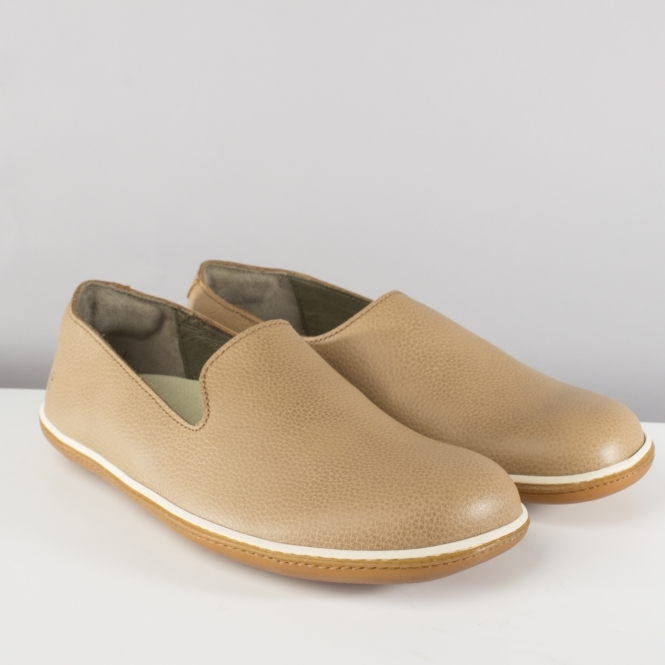 El Naturalista NE08 EL VIAJERO Ladies Womens Leather Flats Shoes Muesli Beige