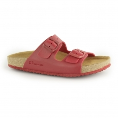 WARAJI NE50 Ladies Vegan Buckle Sandals Red