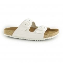 WARAJI NE50 Ladies Vegan Buckle Sandals White