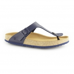 WARAJI NE59 Ladies Vegan Toe-Post Sandals Navy