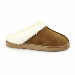 ELISE Ladies Soft Mule Slippers Tan