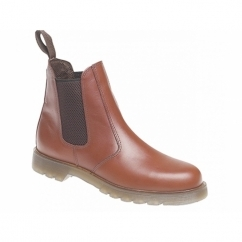 ELLIS Mens Leather Air Cushion Sole Dealer Boots Tan