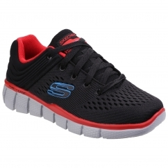 Skechers EQUALISER 2.0 - POST SEASON Kids Trainers Black/Red