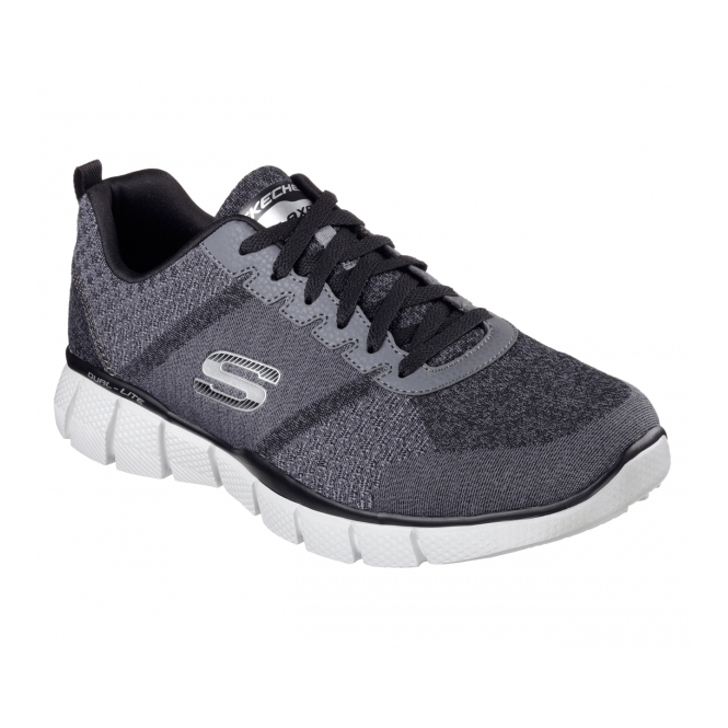 Skechers EQUALIZER 2.0 - TRUE BALANCE Mens Trainers Charcoal/Black