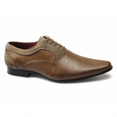 ERASMO Mens Leather Lined Lace-Up Shoes Brown