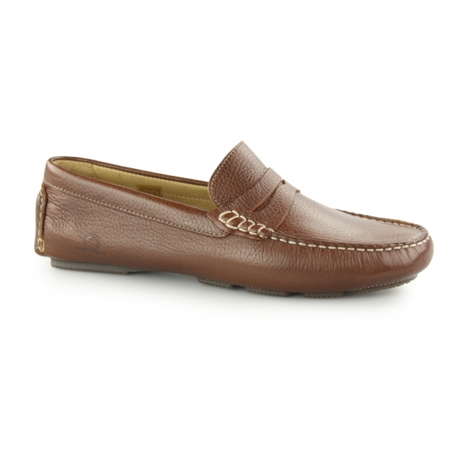 Chatham ESCAPE Mens Leather Driving Loafers Brown