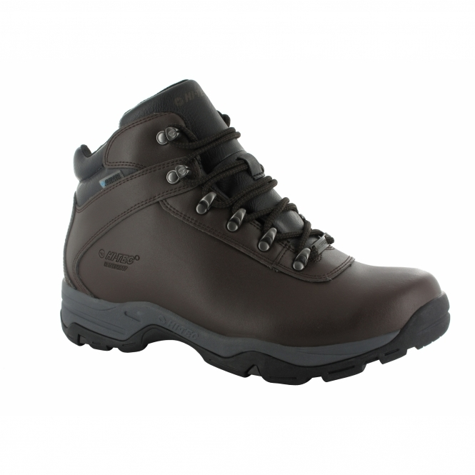 Hi-Tec EUROTREK III Ladies WP Leather Walking Boots Dark Chocolate